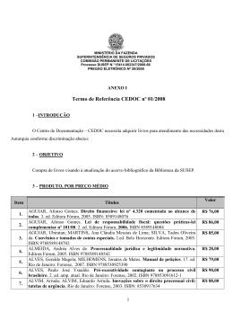 pregão eletrônico nº 20/2009 - anexo i - termo de referência