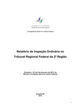 Inspeção ordinária no Tribunal Regional Federal da 2ª Região