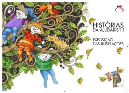 Desbobrável da exposição das ilustrações Histórias da Ajudaris 2011