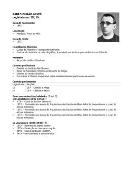 PAULO DURÃO ALVES Legislaturas: III, IV.