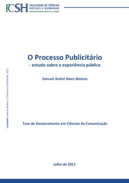 Capa_Tese O Processo Publicitário