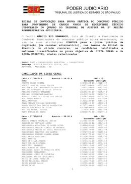 Convocação - 2º Região/Araçatuba