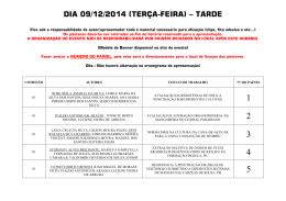 DIA 09/12/2014 (TERÇA