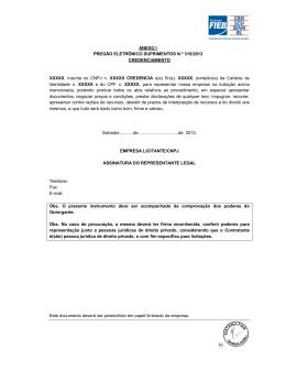 ANEXO I PREGÃO ELETRÔNICO SUPRIMENTOS N.º 315