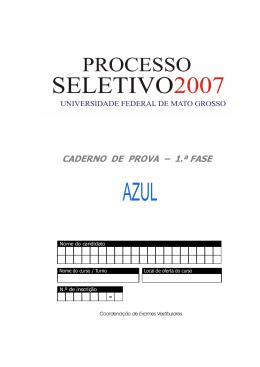 CADERNO DE PROVA – 1.ª FASE
