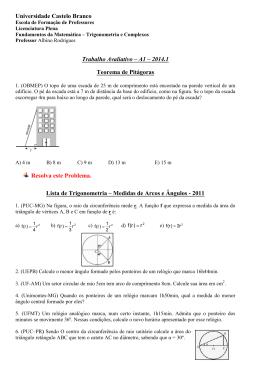 Trabalho Avaliativo - A1 - 2014 - Universidade Castelo Branco