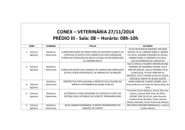 CONEX – VETERINÁRIA 27/11/2014 PRÉDIO III
