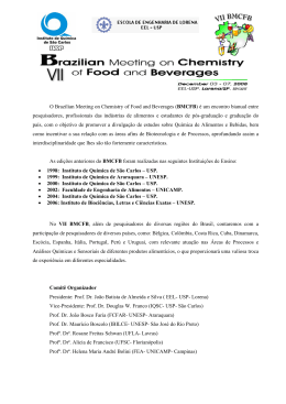 O Brazilian Meeting on Chemistry of Food and