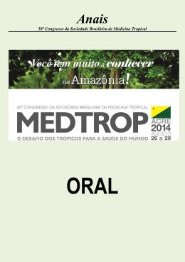 Anais - Sociedade Brasileira de Medicina Tropical