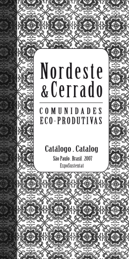 Catálogo de comunidades da Sala Nordeste & Cerrado 2007