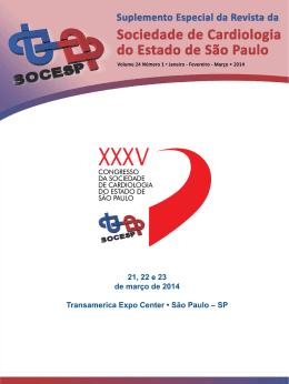 Suplemento - XXXV Congresso da Sociedade de Cardiologia do