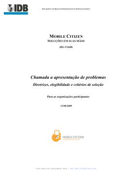 IDB Mobile Citizen Edital Apresentacao de Problemas