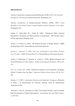 359 BIBLIOGRAFIA Advisory Commission on