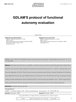 GDLAM`S protocol of functional autonomy evaluation
