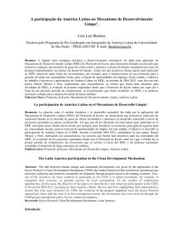 A participação da América Latina no Mecanismo de