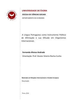 Fernanda Andrade - Universidade de Évora