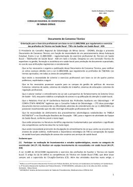 Documento de Consenso Técnico