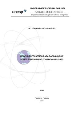 Modelo estocástico para dados GNSS e séries temporais de