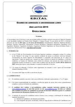 Edital Exames de Admissão