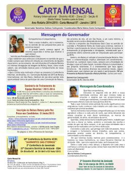 Janeiro 2015 - Distrito 4530
