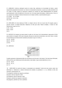 01. (UNEB-2001) Conforme publicação recente da revista Veja