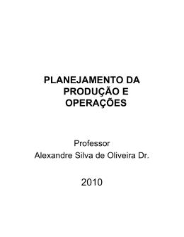 Lâminas de Aula - professor dr. alexandre silva de oliveira