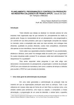 (PPCP) (estudo de caso em - Uni