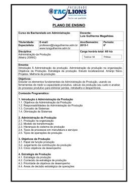 plano de ensino - Adm. Luis Guilherme Magalhães