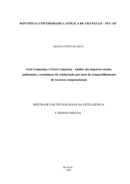 grid computing e cloud computing - Biblioteca Digital da PUC-SP