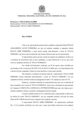 Processo n. 1345-22.2014.6.21.0000 Representante: PAULO