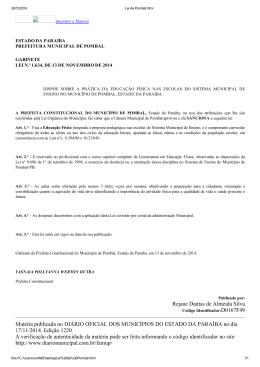Rejane Dantas de Almeida Silva Matéria publicada no