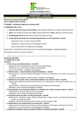 Semana Pedagógica 2014.2 - IFRN
