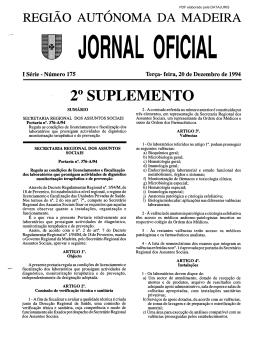 20 SUPLEMENTO - Governo Regional da Madeira