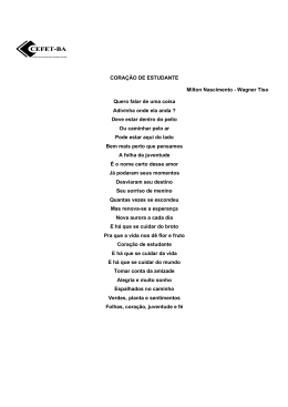 CORAÇÃO DE ESTUDANTE Milton Nascimento - Wagner