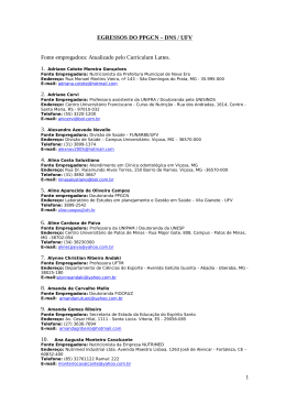 EGRESSOS DO PPGCN – DNS / UFV