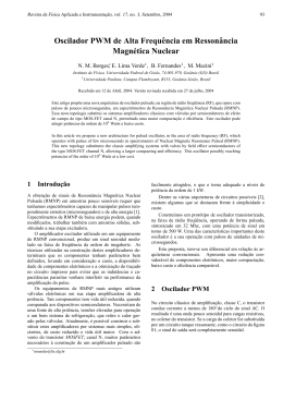 Oscilador PWM de Alta Frequência em Ressonância Magnética