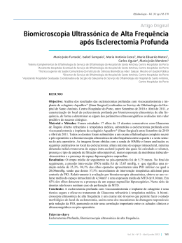 Biomicroscopia Ultrassónica de Alta Frequência após