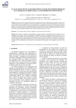 avaliação de técnicas de implementação de transformadores de alta