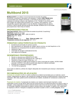 Multibond 2015 - Franklin Adhesives and Polymers