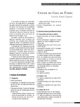 Câncer do Colo do Útero  - Instituto Nacional de Câncer
