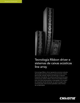 Tecnologia Ribbon driver e sistemas de caixas acústicas