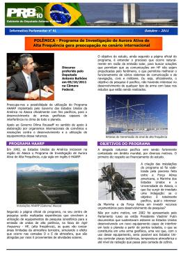 clique e veja o informativo - Deputado Federal Antonio Bulhões