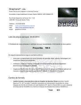 Graphene®, Lda. Preço/dia: 195 €