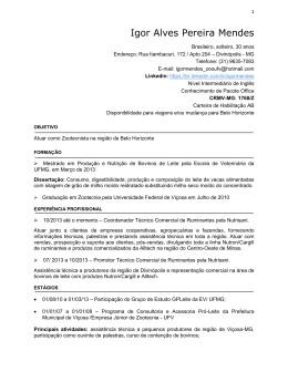 Igor Alves Pereira Mendes - CRMV-MG