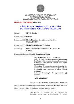 Processo PGT/CCR/nº 6930/2014 - Ministério Público do Trabalho