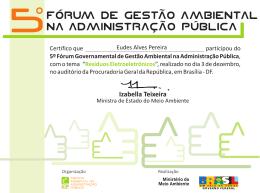 Eudes Alves Pereira - Ministério do Meio Ambiente