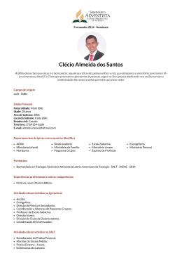 Clécio Almeida dos Santos - Faculdade Adventista da Bahia