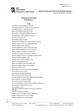 CANDIDATOS ADMITIDOS REFERÊNCIA