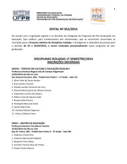 Programa de Pós-Graduação em Educação/UFPR