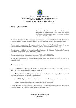 Resolução N.º 06/2013